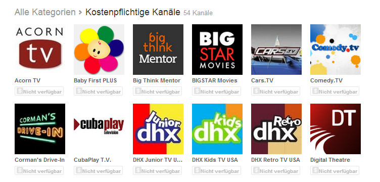 YouTube Paid Channels gestartet