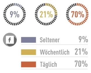 Zielgruppenanalyse Facebook: Nutzer sind täglich online.